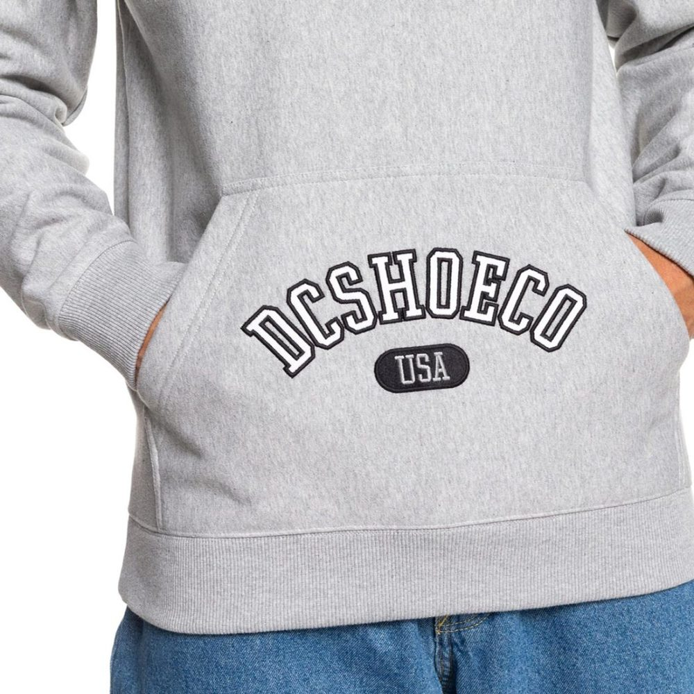 DC Shoes Arched Pullover Hoodie - Grey Heather