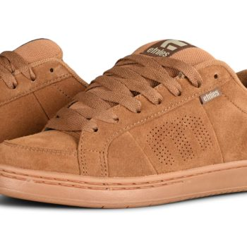 Etnies Kingpin Skate Shoes - Brown / Gum / Gold
