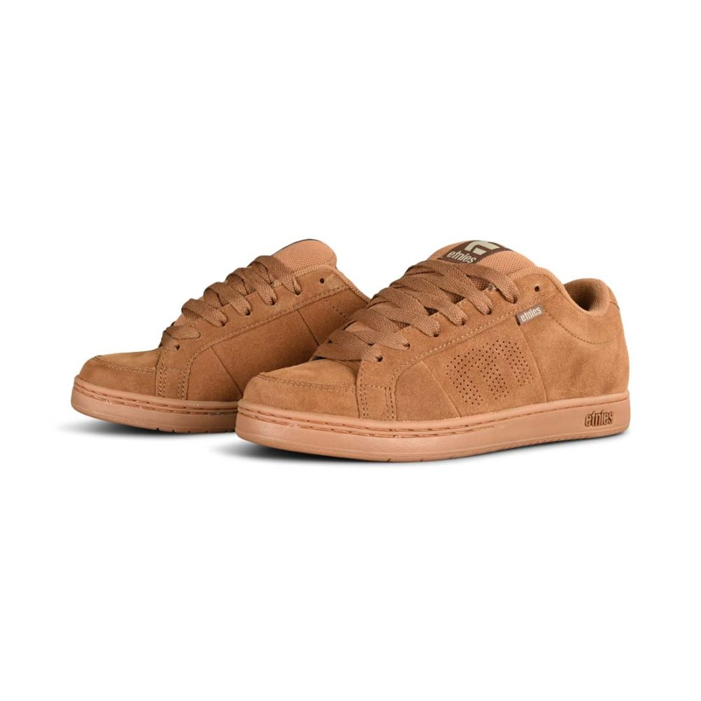 Etnies Kingpin Skate Shoes - Brown / Gum / Gold