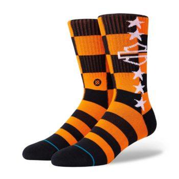 Stance Harley Checkered Crew Socks - Orange