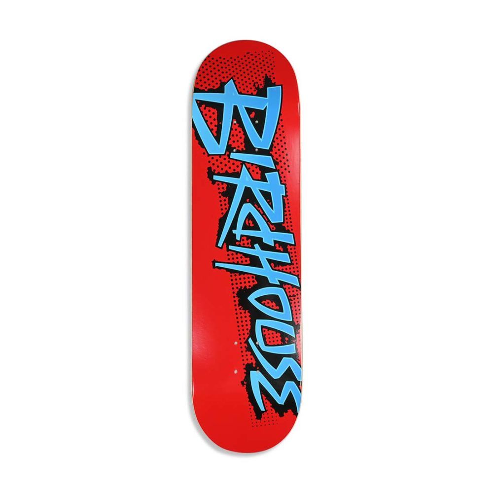"""Birdhouse Splatter Logo 8.25"""" Skateboard Deck - Red"""