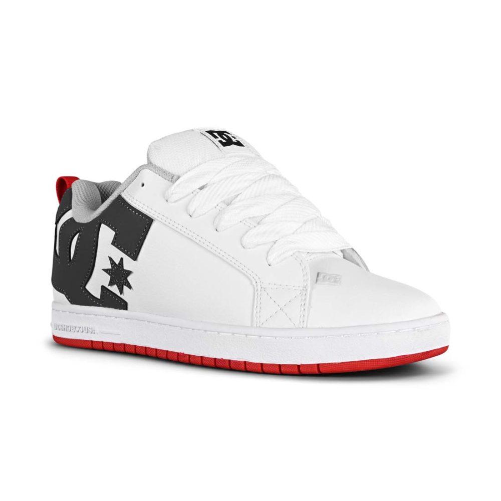 DC Shoes Court Graffik - White / Grey / Red