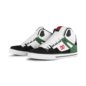 DC Shoes Pure High Top WC - White / Green / Black