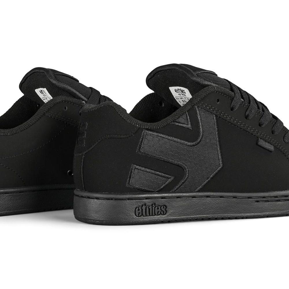 Etnies Fader Skate Shoes - Black / Black / Black