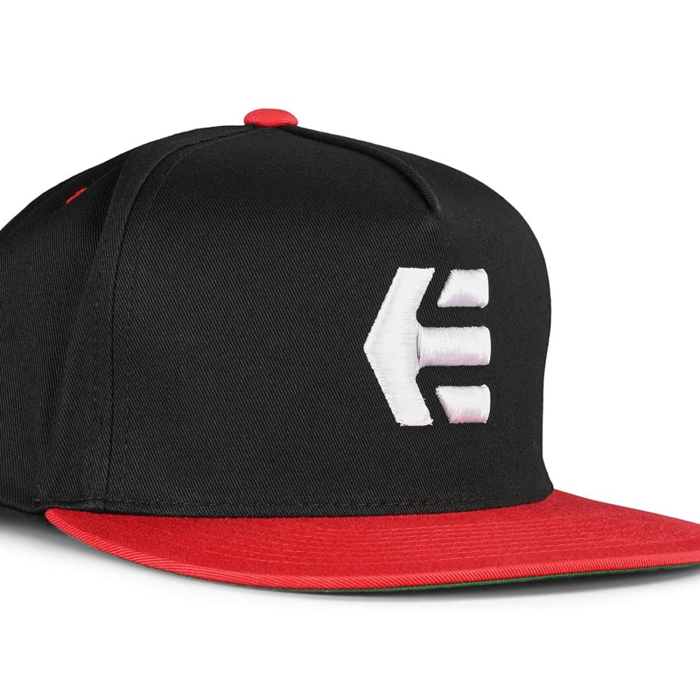 Etnies Icon Snapback Cap – Black / Red