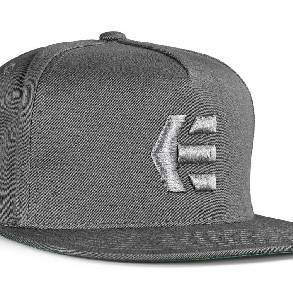 Etnies Icon Snapback Cap – Charcoal