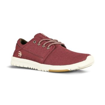 Etnies Scout Shoes - Burgundy / Tan / Gum