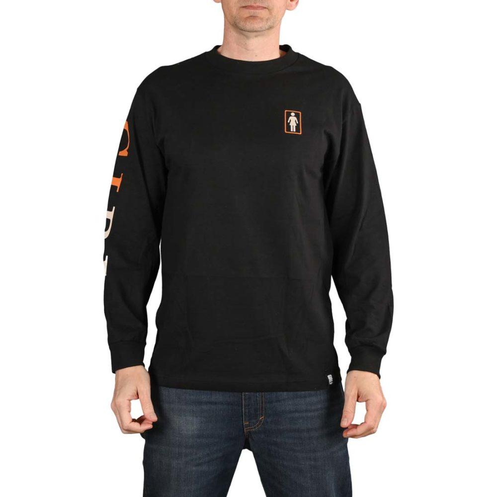 Girl Skateboards Serif L/S T-Shirt - Black