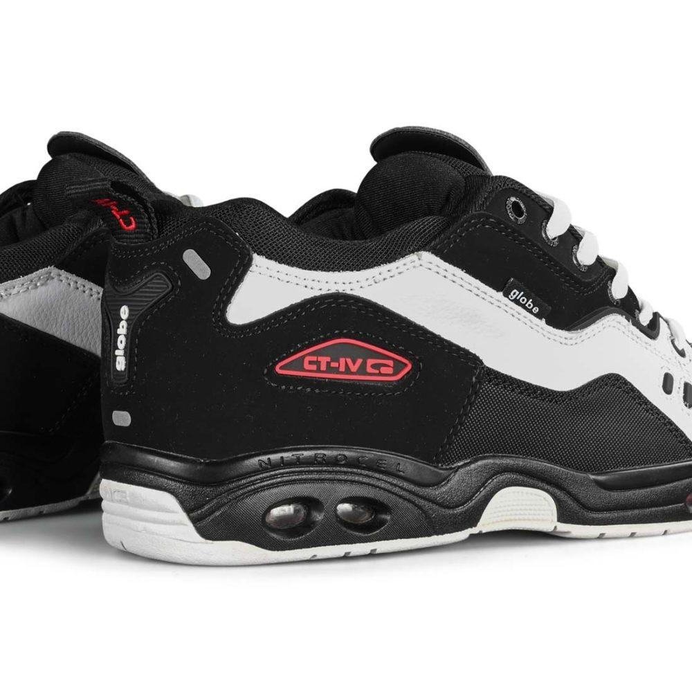 Globe CT-IV Classic Skate Shoes - Black / White / Red