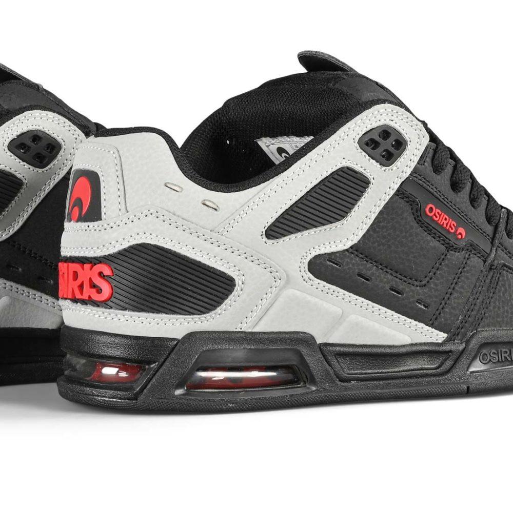 Osiris Peril Skate Shoes - Black / Lt. Grey / Red