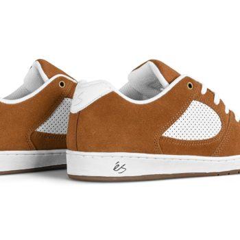 eS Accel Slim Skate Shoes - Brown / White