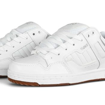 DVS Enduro 125 Skate Shoes - White / Gum