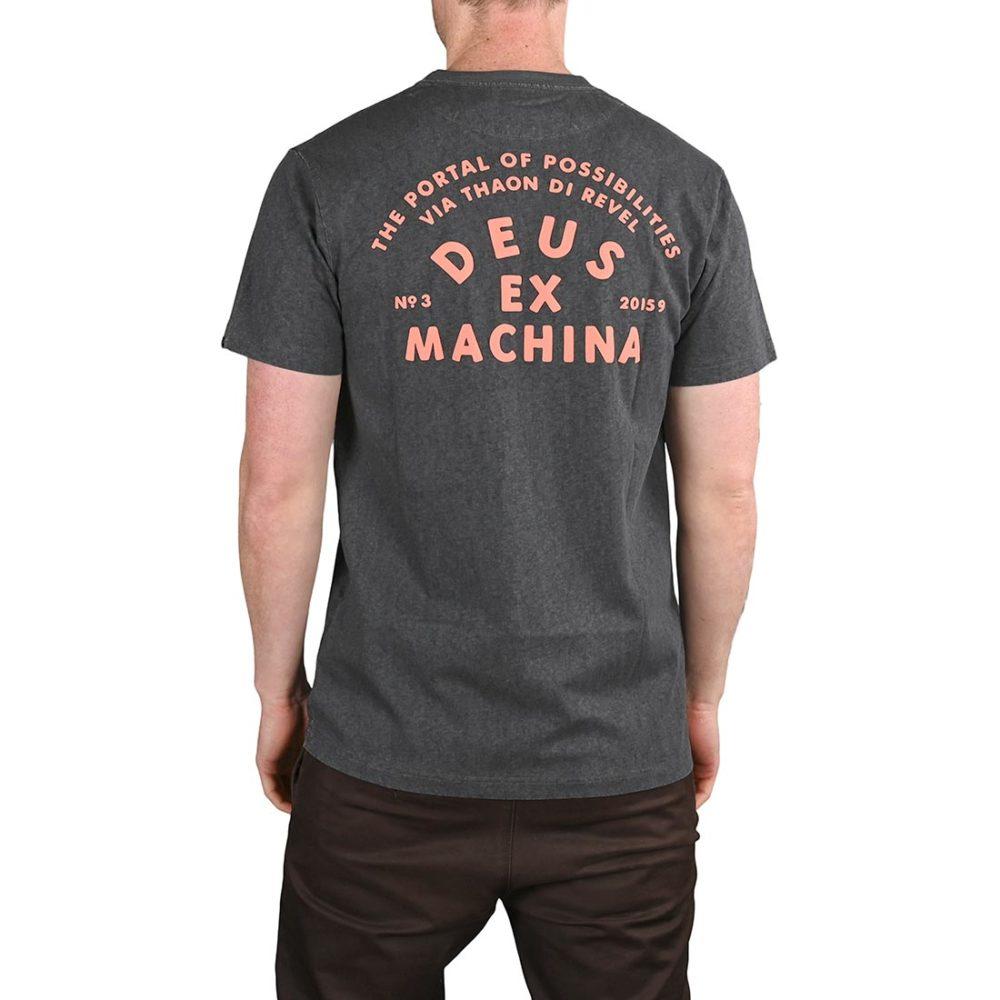 Deus Ex Machina Roller Milan Address S/S T-Shirt - Phantom Black