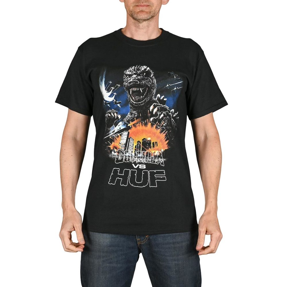 HUF Godzilla Tour S/S T-Shirt - Black