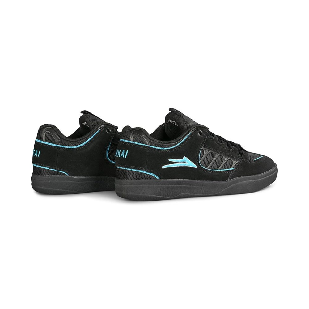 Lakai Carroll Skate Shoes - Black Suede