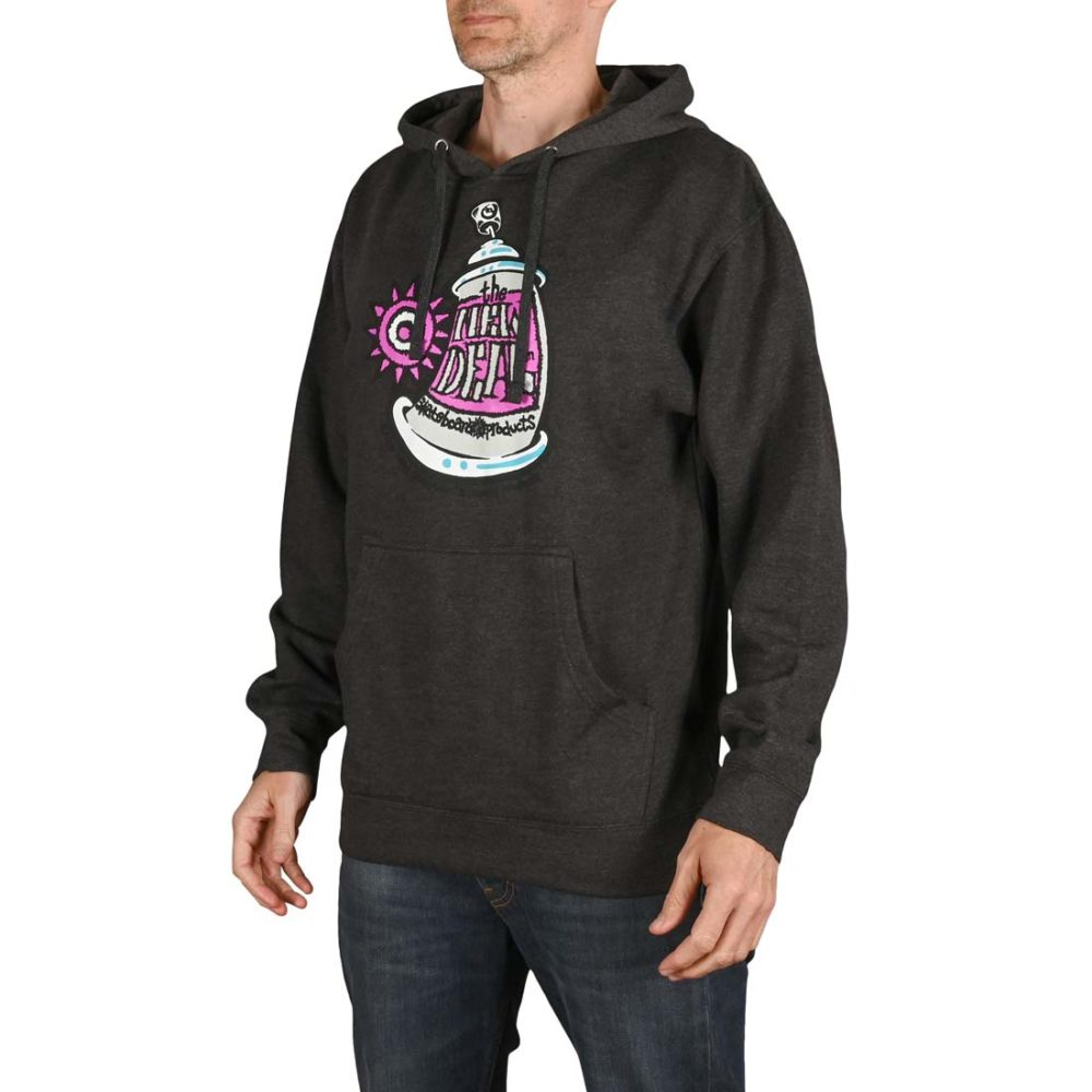 New Deal Spray Can Pullover Hoodie - Charcoal Heather