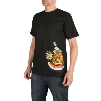 New Deal Spray Can S/S T-Shirt - Black