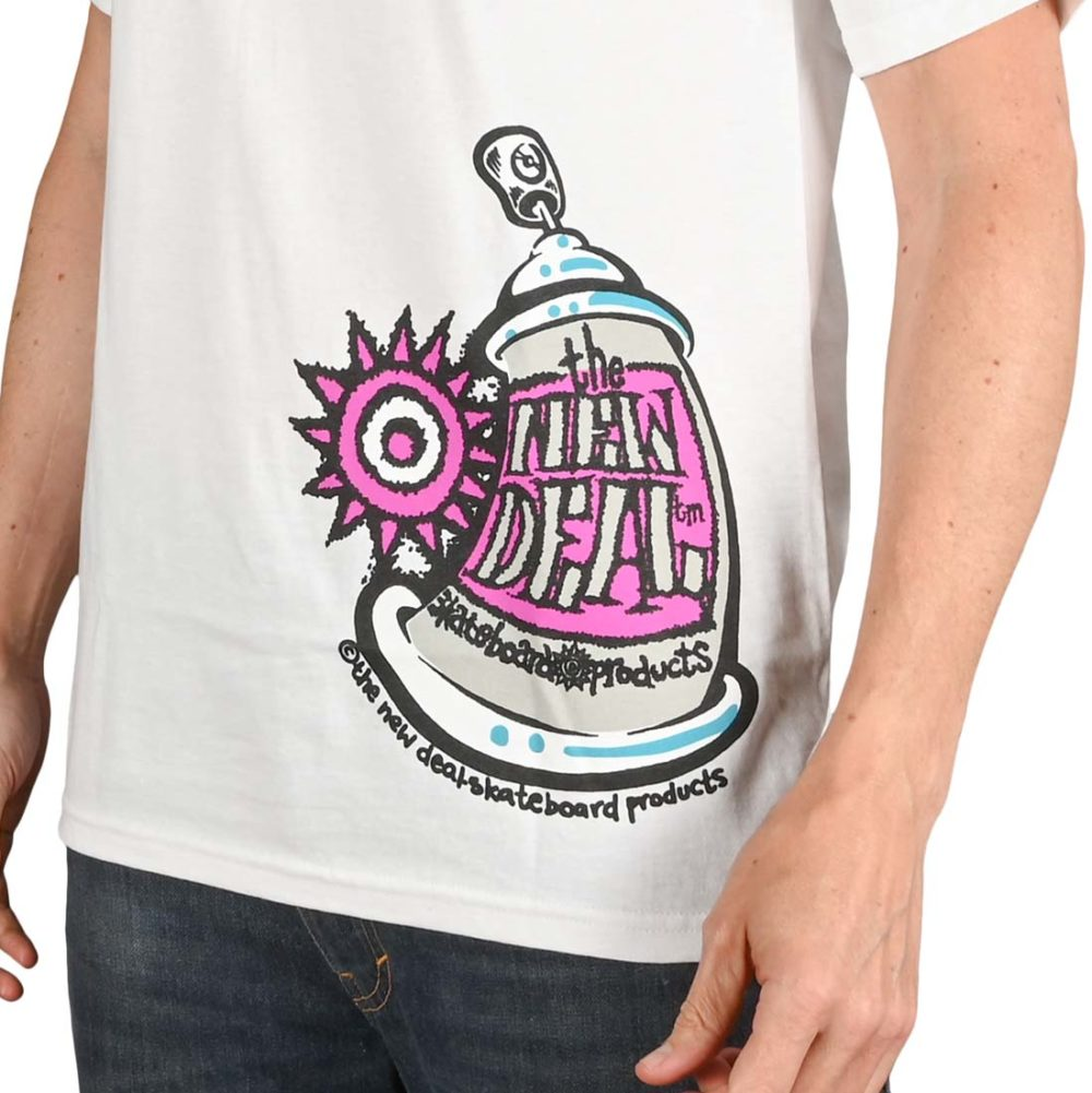 New Deal Spray Can S/S T-Shirt - White