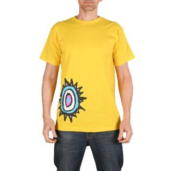 New Deal Sun Logo S/S T-Shirt - Yellow