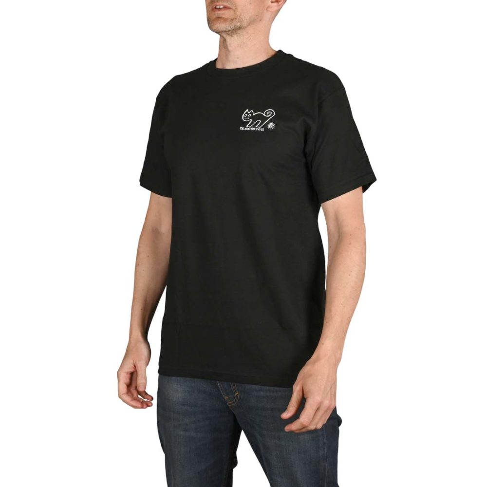New Deal Templeton Cat S/S T-Shirt - Black