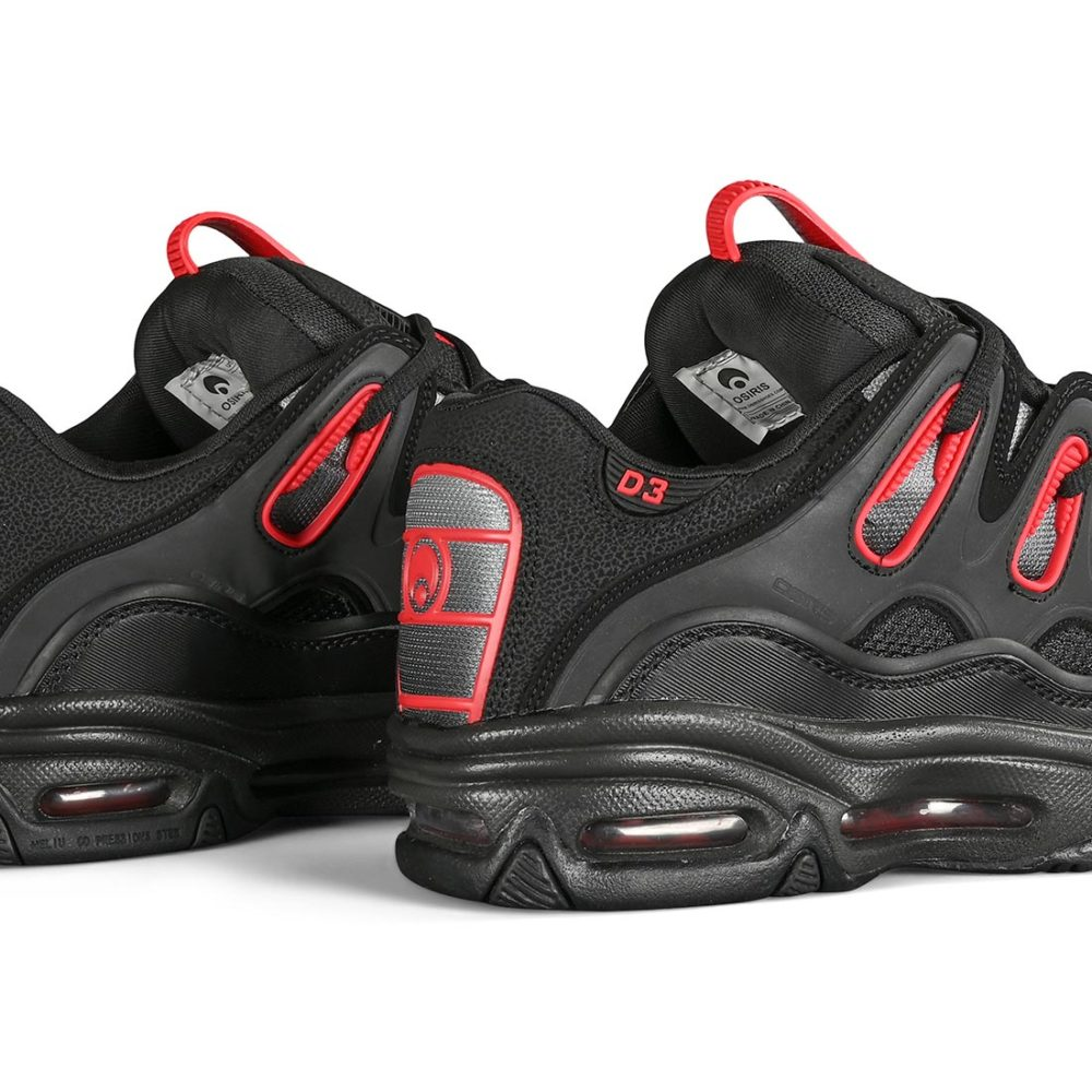 Osiris D3 2001 Skate Shoes - Black / Red / Fade