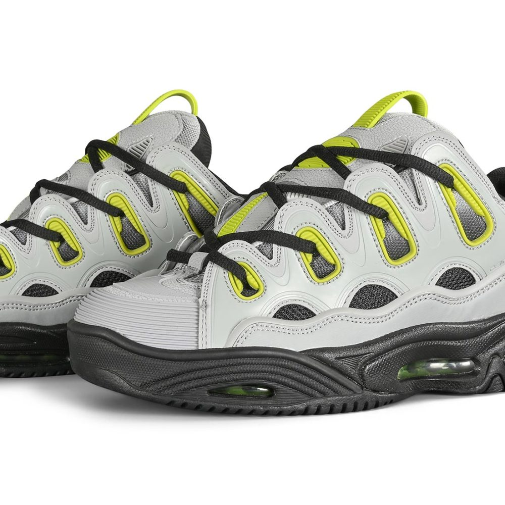 Osiris D3 2001 Skate Shoes - Lt. Grey / Lime / Fade