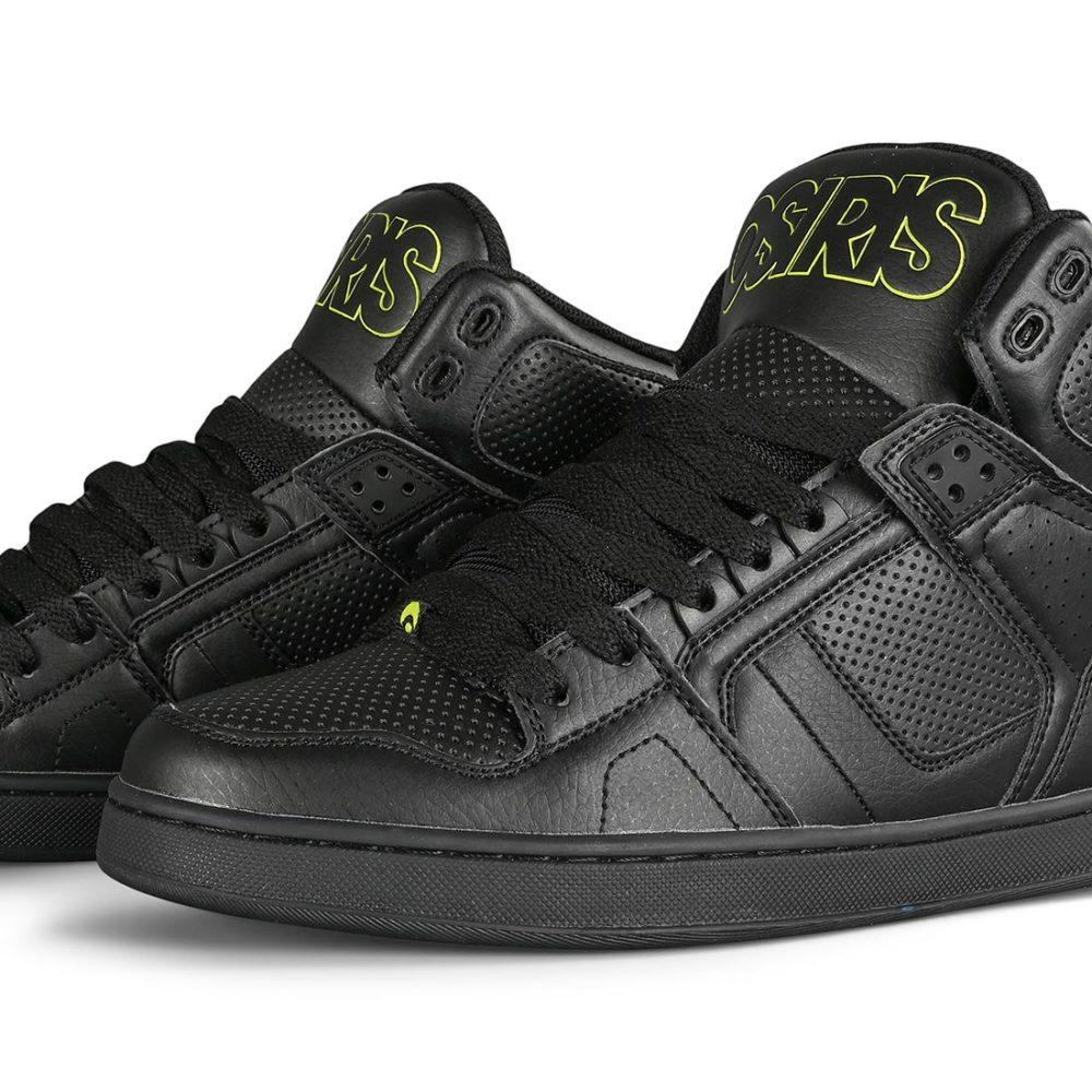 Osiris NYC 83 CLK High Top Skate Shoes - Black / Lime / Black
