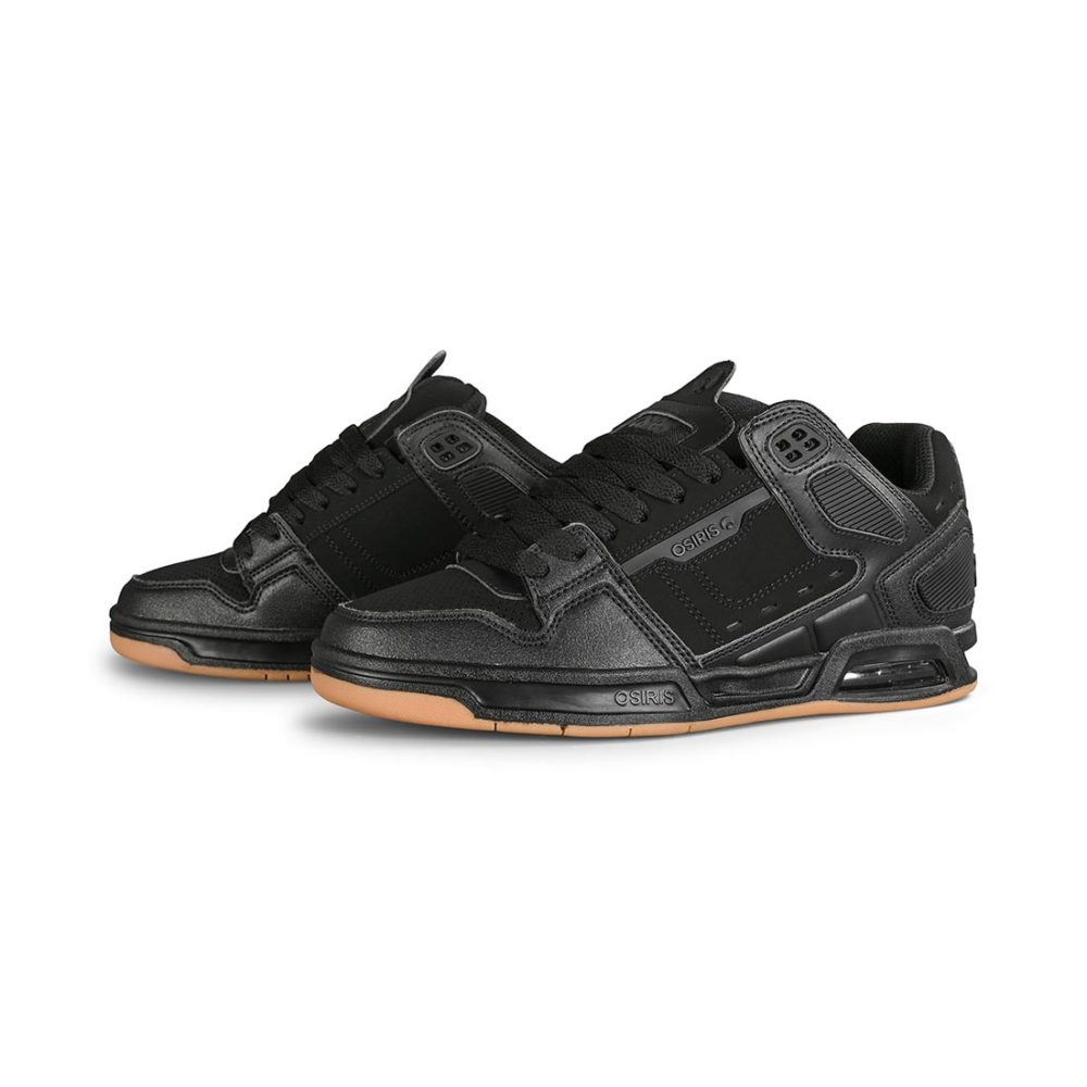 Osiris Peril Skate Shoes - Black / Gum
