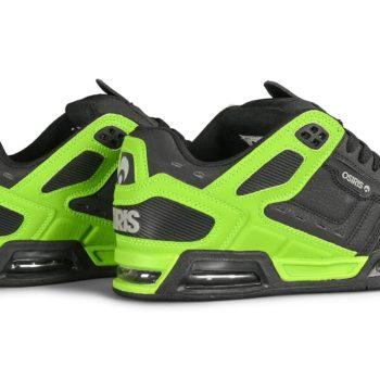 Osiris Peril Skate Shoes - Black / Lt. Grey / Lime