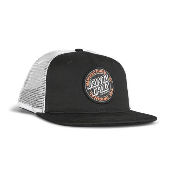 Santa Cruz MFG Dot Mesh Back Cap - Black / White
