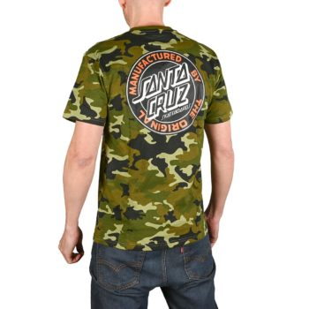 Santa Cruz MFG Dot S/S T-Shirt - Woodland Camo