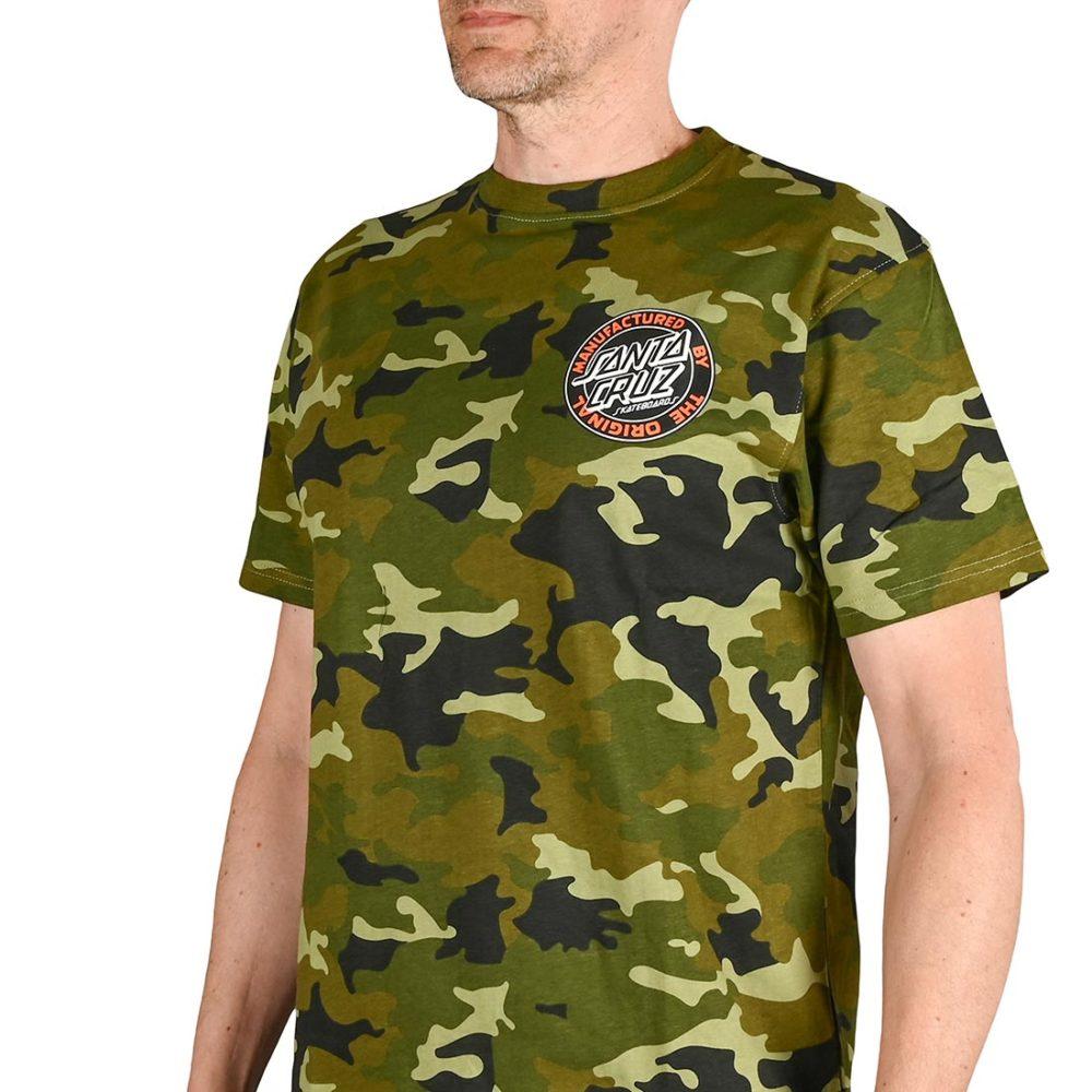Santa Cruz MFG Dot S/S T-Shirt - Woodland Camo