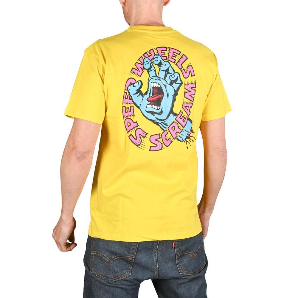 Santa Cruz Screaming Hand Scream S/S T-Shirt - Yellow
