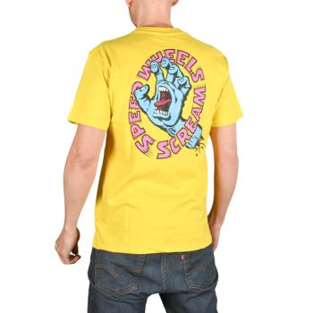 Santa Cruz Screaming Hand Scream S/S T-Shirt - Yellow