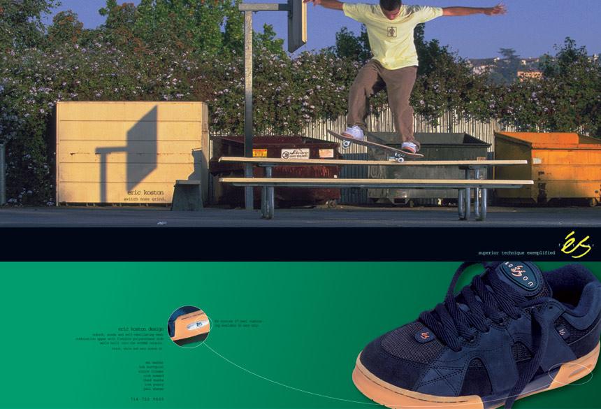 Es Koston 1 Black Gum Skate Shoes