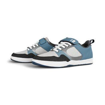 eS Accel Slim Plus Ever Stitch Skate Shoes - Blue / Grey