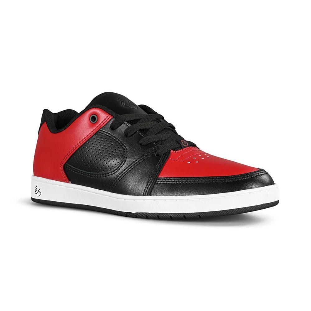 eS Accel Slim Skate Shoes - Red / Black