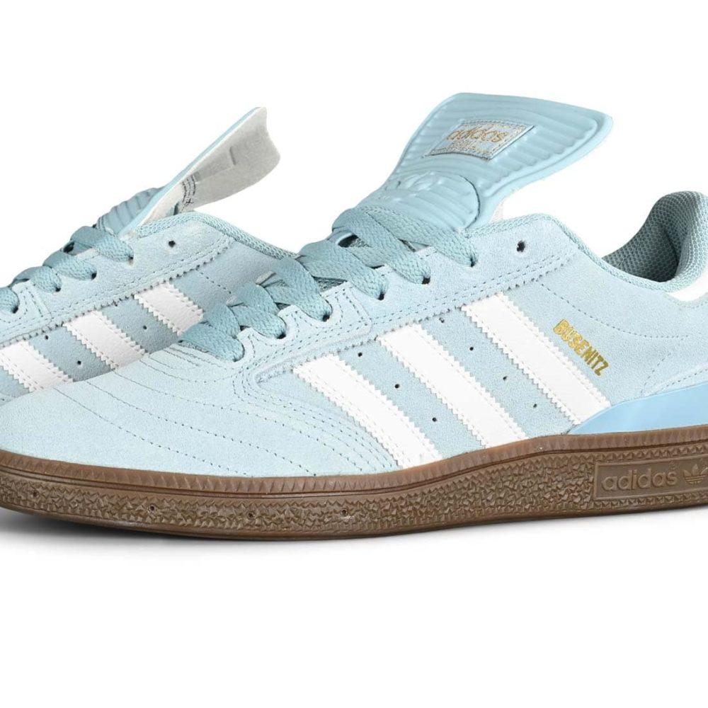 Adidas Busenitz Skate Shoes - Ash Grey / White / Gum