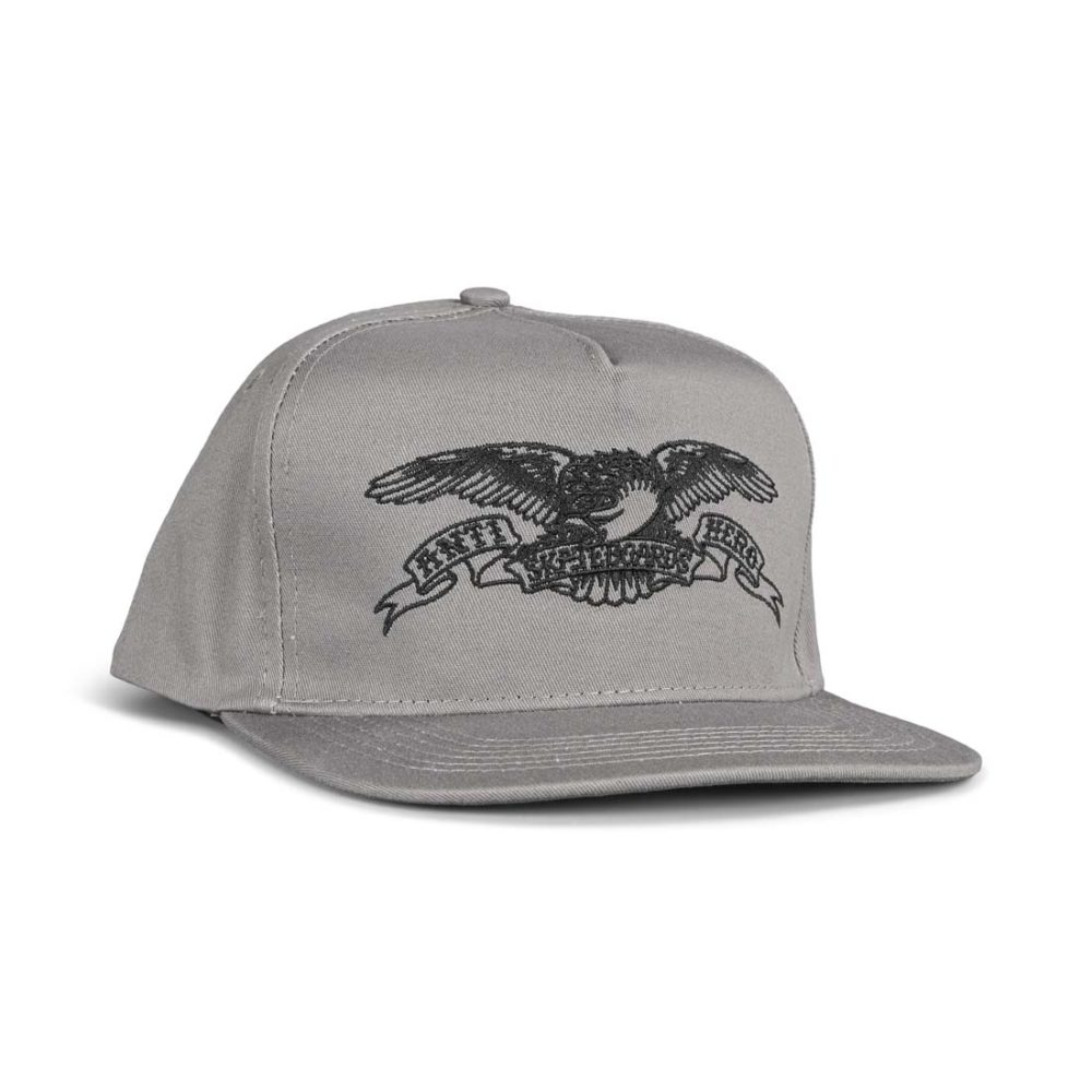Anti Hero Basic Eagle Snapback Cap - Grey / Black