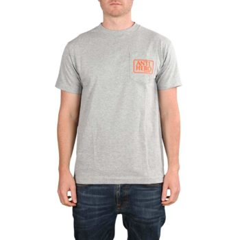 Anti Hero Reserve S/S Pocket T-Shirt - Athletic Heather / Orange