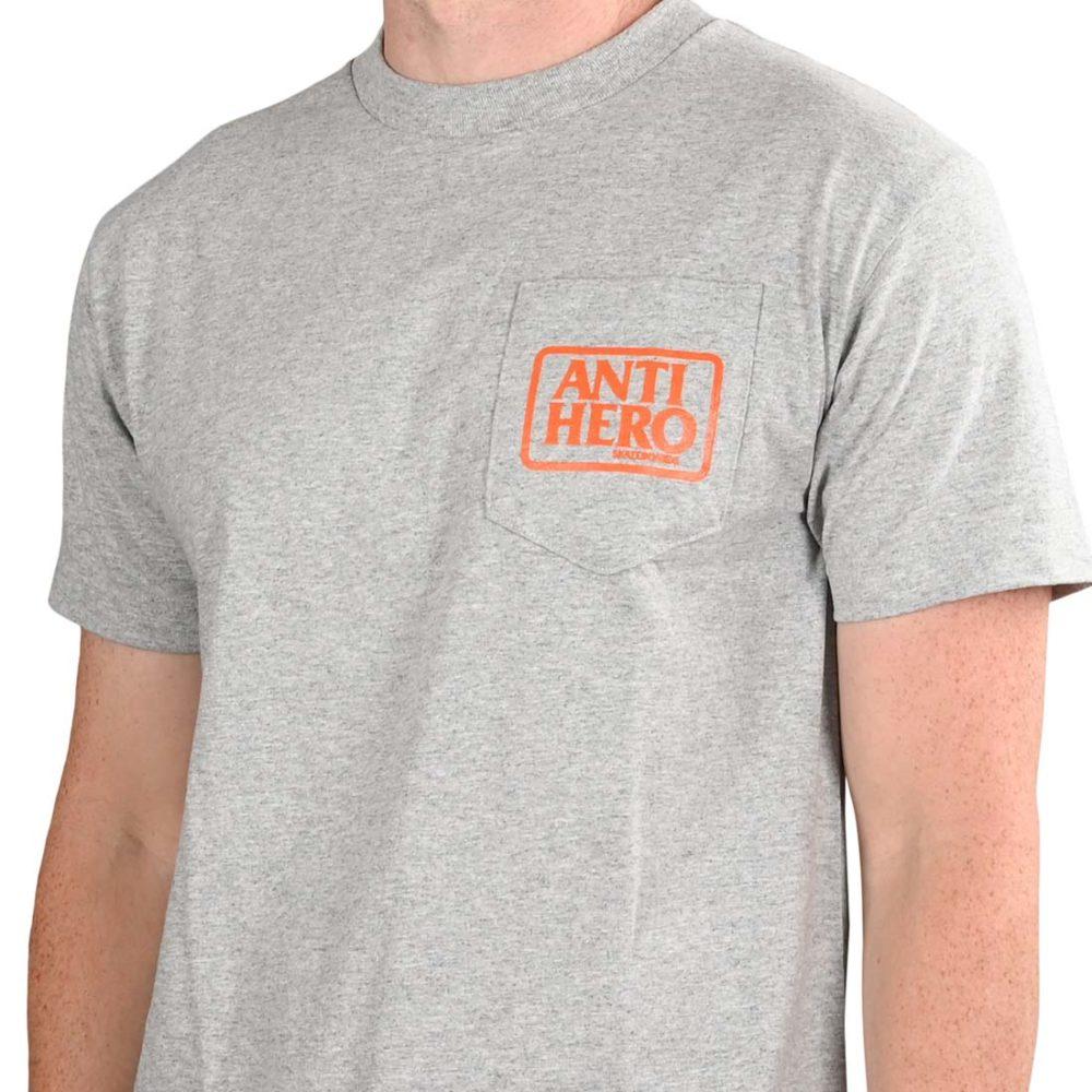 Anti Hero Reserve S/S Pocket T-Shirt - Athletic Heather / Orange