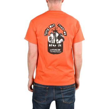 Anti Hero Tune Out S/S Pocket T-Shirt - Orange / Black