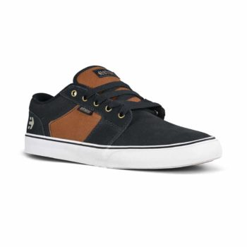 Etnies Barge LS Skate Shoes - Navy / Brown / White