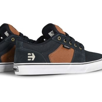 Etnies Barge LS Skate Shoes - Navy / Brown / White
