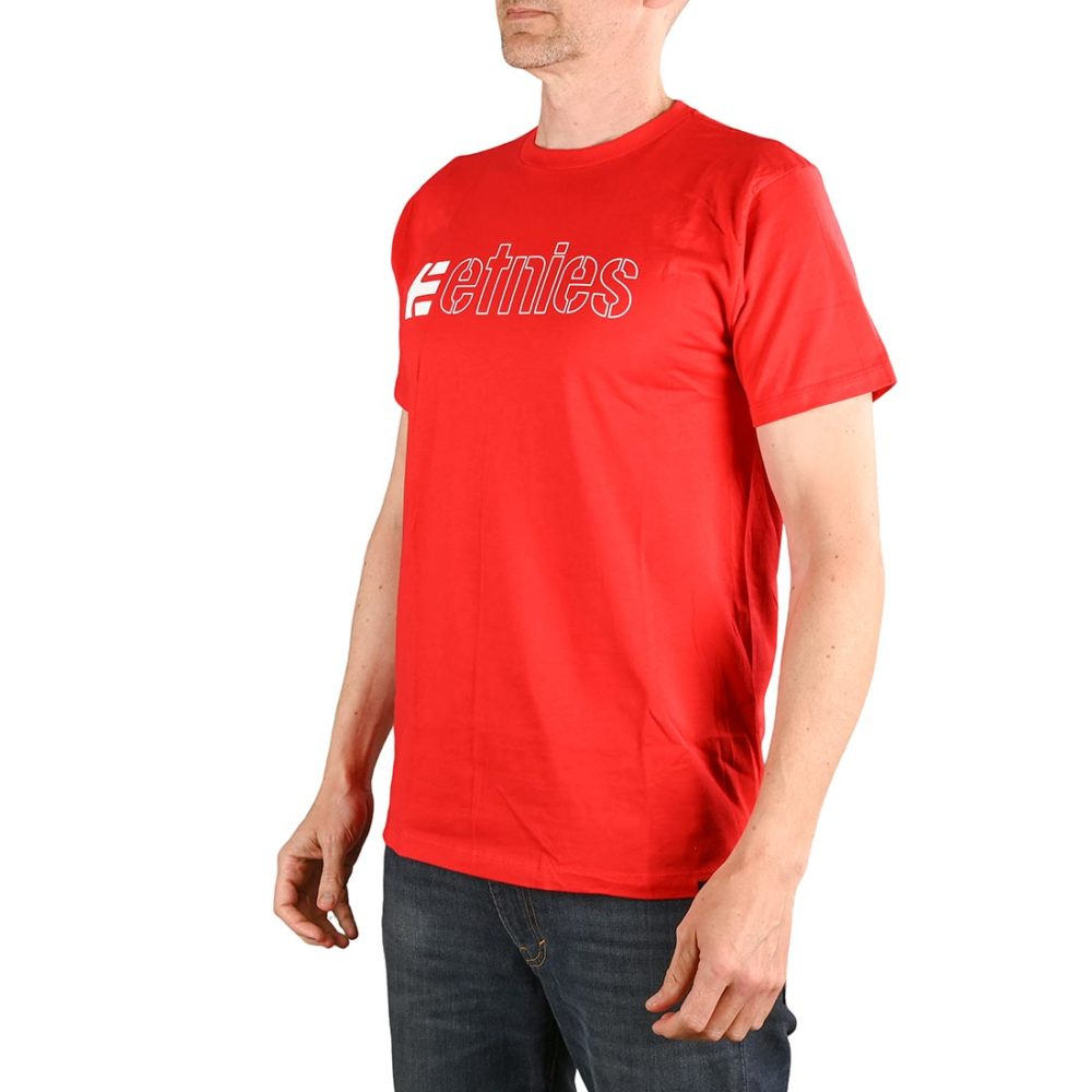 Etnies Ecorp S/S T-Shirt - Red