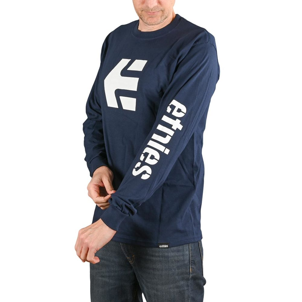 Etnies Icon L/S T-Shirt - Navy