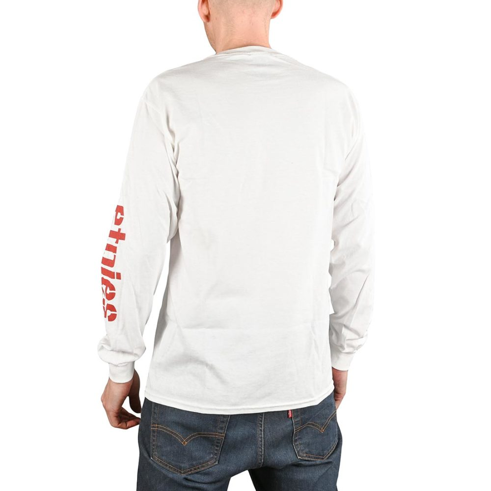 Etnies Icon L/S T-Shirt - White / Red