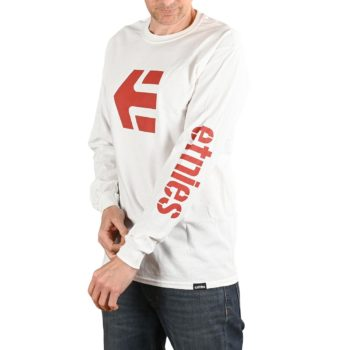 Etnies Icon L/S T-Shirt - White / Red
