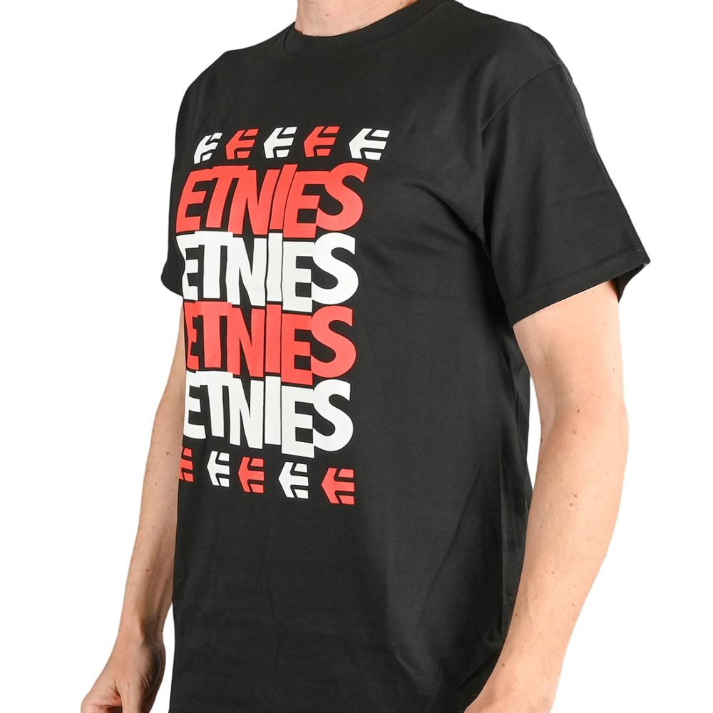Etnies Stacked S/S T-Shirt - Black