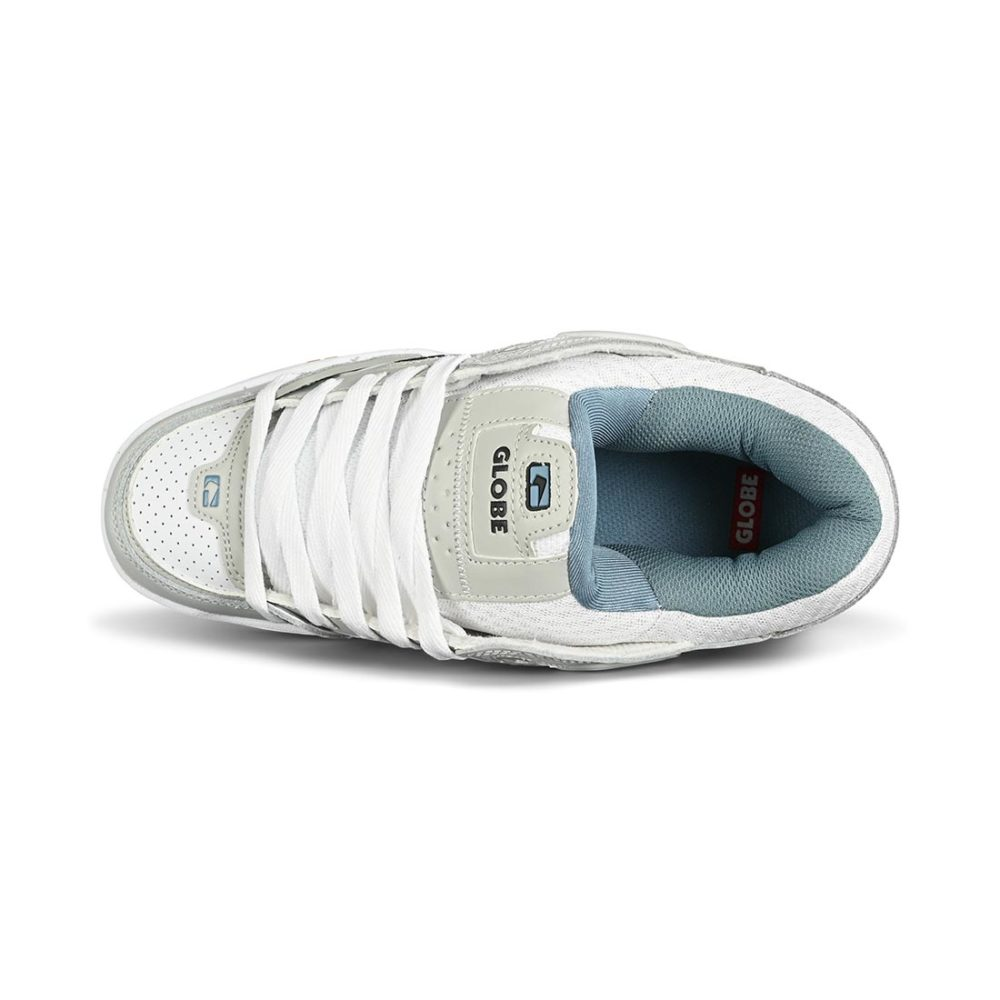 Globe Fusion Skate Shoes - Light Grey / White / Dusk